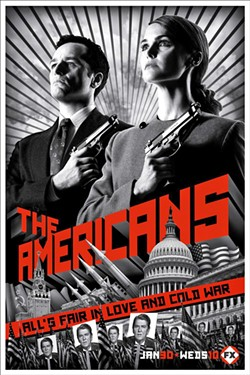 UNDERCOVER The Americans chronicles the suspenseful lives of Soviet spies Philip (Matthew Rhys) and Elizabeth (Keri Russell) Jennings as they navigate escalating tensions between U.S. and Russia in the early 1980s. - PHOTO COURTESY OF FX