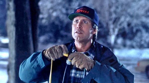 DO IT, CLARK! Clark Griswald (Chevy Chase) endures all manner of humiliation, in the 1989 classic National Lampoon's Christmas Vacation, screening Dec. 19, in Galaxy Theaters. - PHOTO COURTESY OF WARNER BROS.
