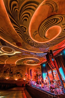 ART DECO RAMA! The ceiling and wall décor of the Fremont Theater creates a swirly, trippy vibe in the venue. - PHOTOS BY JAYSON MELLOM