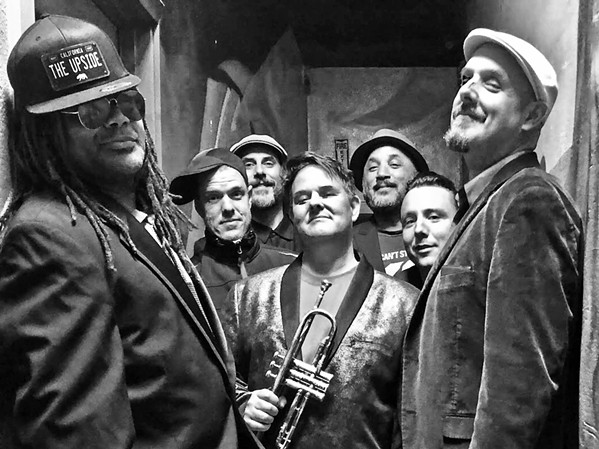 OLD-SCHOOL SKA! The Upside (pictured), which plays a mix of '60s Jamaican ska covers and originals, makes its debut on Dec. 21, at The Siren, opening for The Zongo All-Stars. - PHOTO COURTESY OF THE UPSIDE