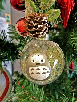 CREATIVE JUICES One of our graphic designers, Ellen Fukumoto, loves Totoro. So she put it on her ornament! - PHOTO BY RACHELLE RAMIREZ