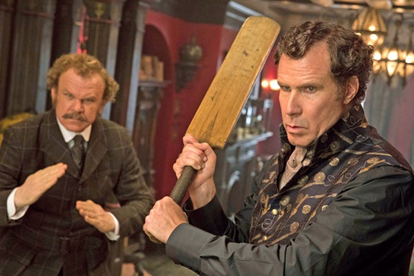 STICKY WICKET Sir Arthur Conan Doyle's classic detective character, Sherlock Holmes (Will Ferrell, right), and his sidekick, Doctor Watson (John C. Reilly), get the comedic treatment, in the spoof Holmes & Watson. - PHOTO COURTESY OF COLUMBIA PICTURES CORPORATION