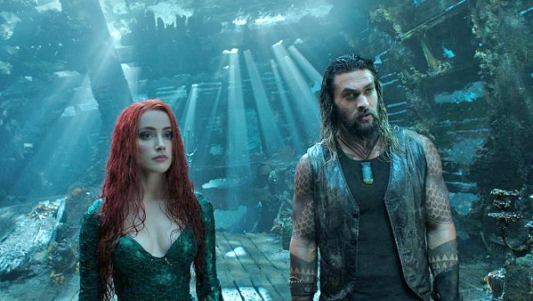 DEEP IMPACT Mera (Amber Heard) helps Arthur Curry (Jason Momoa) claim his title as heir to Atlantis and save the world, in Aquaman. - PHOTO COURTESY OF DC ENTERTAINMENT