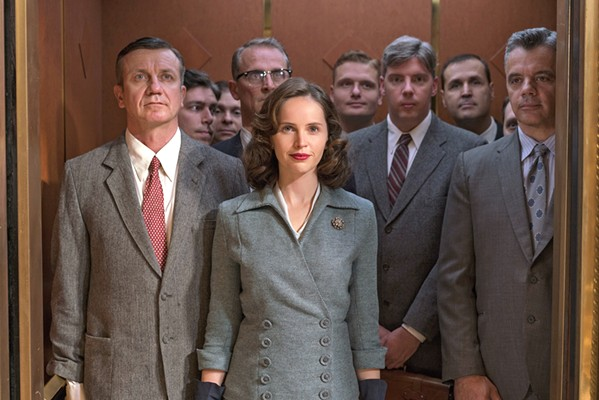 THE NOTORIUS R.B.G. Felicity Jones (center) stars as Ruth Bader Ginsberg, who fights for equality and eventually becomes a Supreme Court Justice, in On the Basis of Sex. - PHOTO COURTESY OF AMBLIN PARTNERS