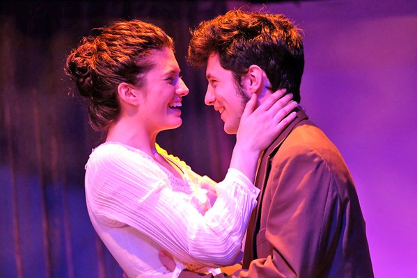 HAPPILY EVER AFTER Jane Austen's Elizabeth (Penny DellaPelle) and Mr. Darcy (Elliot Peters) are one of those classic will-they-or-won't-they couples. - PHOTOS COURTESY OF SLO REPERTORY THEATRE