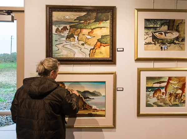 ARTISTIC LEGACY Nipomo artist Milford Zornes spent his life painting, with a large part of that work focused on California landscapes. - PHOTO BY CHRIS GARDNER; COURTESY OF THE DANA ADOBE CULTURAL CENTER