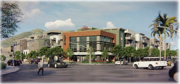 MOVING FORWARD On Jan. 15, the SLO City Council denied an appeal of a proposed four-story, mixed-use development on Foothill Boulevard with 78 housing units. - RENDERING COURTESY OF THE CITY OF SLO