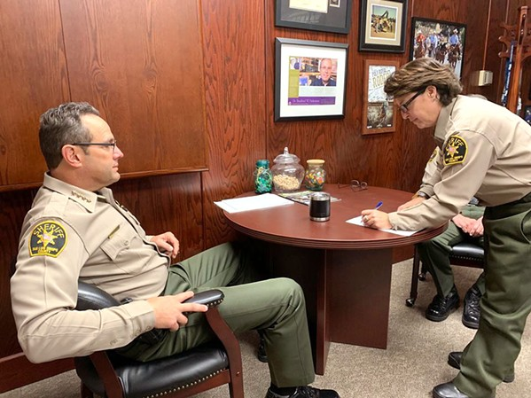 A NEW POSITION SLO Sheriff Correctional Deputy Traci Kessler (right) will begin her new job as the Sheriff's Office Compliance Officer on Feb. 10. The position was created to ensure the department's polices meet or exceed state and federal standards. - PHOTO COURTESY OF THE SLO SHERIFF'S OFFICE