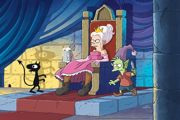 PRINCESS DIARIES Princess Bean shirks the ladylike expectations of her princessly duties in favor of drinking, gambling, and fighting evil with her catlike demon pal, Luci, and Elfo, an elf with a crush on her. - IMAGE COURTESY OF NETFLIX