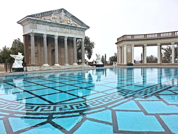 BACK IN ACTION The Neptune Pool was out of commission for four years during renovation and repair of the plumbing and its leaky concrete shell, but it was refilled in August 2018. - PHOTOS BY CAMILLIA LANHAM