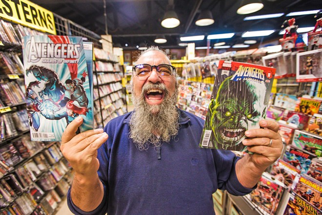 GEEK OUT! Captain Nemo Manager Raymond Hanson said there are more than 8,000 comic books to choose from in the two-story building on Higuera. So go geek out at the best. - PHOTO BY JAYSON MELLOM