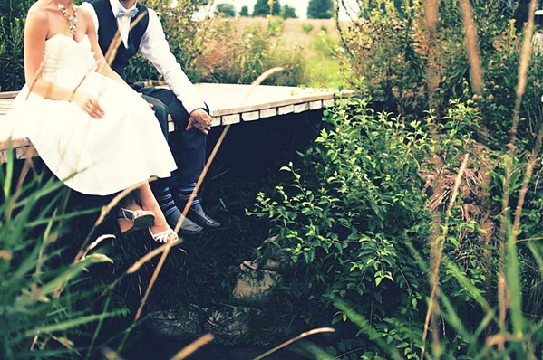 HAPPY PLANET, HAPPY COUPLE A single wedding typically generates between 400 and 600 pounds of trash. But there are some tips and tricks to lessening your big day's environmental impact. - PHOTO COURTESY OF NPAREKHCARDS