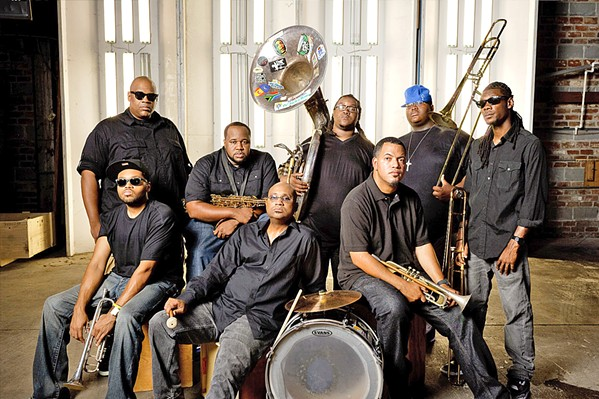 NOLA SOUNDS Incredible New Orleans brass band The Soul Rebels play The Siren on Feb. 17. - PHOTO COURTESY OF THE SOUL REBELS