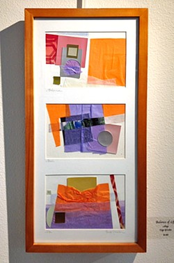 HARMONY Balance of Life is an abstract collage piece by Paso Robles artist Page Graeber. - IMAGE COURTESY OF PAGE GRAEBER