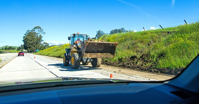 ROAD WARRIORS SLO County residents have been complaining about the poor quality of their roads for years now. They're so happy to see construction out there that they voted road repair as the best use of taxpayer money. - PHOTO BY JAYSON MELLOM