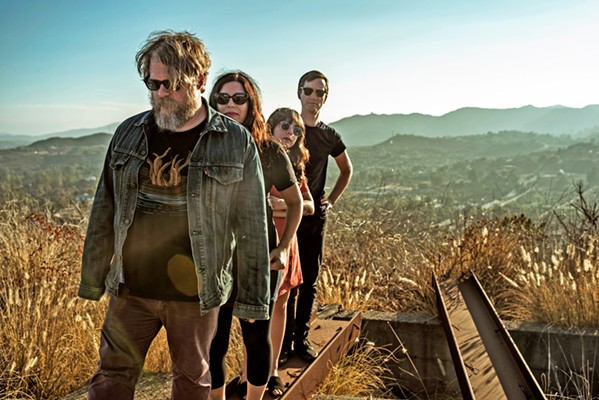 UNWRAPPED Indie psych-pop quartet The Gift Machine plays an intimate show at SLO's A Satellite of Love on Feb. 23. - PHOTO COURTESY OF JENS OCHLICH