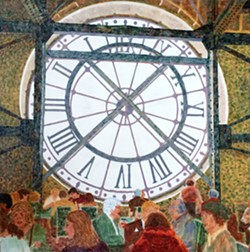 FIRST LOVE It was at the Musee d'Orsay that S. Kay Burnett first fell in love with impressionist painters like Renoir and Degas. After perusing paintings, she would stop at the museum cafe, a moment captured in her painting, Lunch at Musee d'Orsay. - IMAGES COURTESY OF S. KAY BURNETT