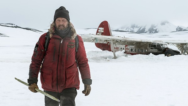ALONE Mads Mikkelsen stars as Overgård, who survives a plane crash in the arctic and must find a way to survive, in Arctic. - PHOTO COURTESY OF ARMORY PICTURES