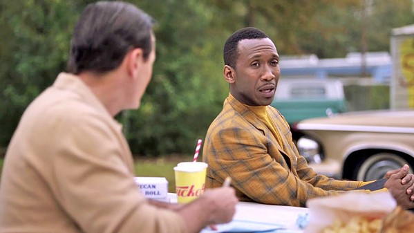 BEST PICTURE, SCREENPLAY, AND SUPPORTING ACTOR! This year's Best Supporting Actor, Mahershala Ali (right), stars as pianist Dr. Don Shirley, in Best Picture-winner Green Book, returning to local theaters. - PHOTO COURTESY OF DREAMWORKS