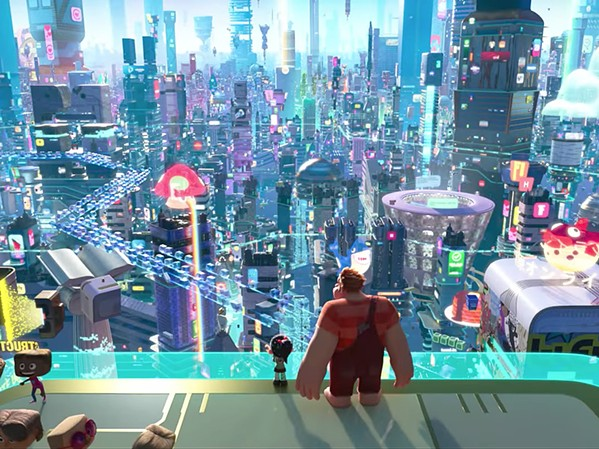 WRECK-IT Ralph (voiced by John C. Reilly, right) and Vanellope (voiced by Sarah Silverman) follow a Wi-Fi router in their arcade to a new adventure, in Ralph Breaks the Internet: Wreck-It Ralph 2. - PHOTO COURTESY OF WALT DISNEY PICTURES