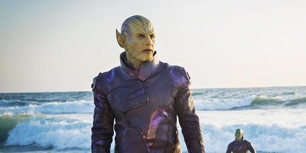 SHAPE SHIFTER Skrull leader Talos (Ben Mendelsohn) arrives on Earth determined to locate Carol Danvers, eventually assuming the identity of a S.H.I.E.L.D. agent named Keller. - PHOTOS COURTESY OF MARVEL STUDIOS