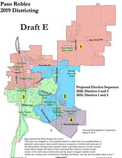 SPLITTING IT UP In order to avoid litigation, Paso Robles is making headway on its plans to change to a by-district election system. - PHOTO COURTESY OF THE CITY OF PASO ROBLES