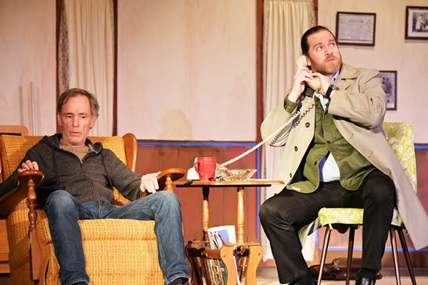 FAMILY TIES Ben (Ryan Treller, right) desperately tries to convince his uncle and client, Willie (Jonathan Shadrach), to reunite with his old comedy partner for just one performance. - PHOTOS COURTESY OF CAMBRIA CENTER FOR THE ARTS