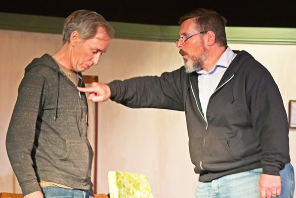 DYSFUNCTIONAL DUO Comedy team Willie Clark (Jonathan Shadrach, left) and Al Lewis (Hank Wethington) rehearse for a reunion performance, but the actors can't get along. - PHOTOS COURTESY OF CAMBRIA CENTER FOR THE ARTS
