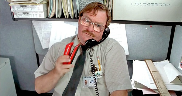 ONE STAPLER TO RULE THEM ALL Milton Waddams (Stephen Root) has a Gollum-esque obsession with his red Swingline stapler, in Office Space. - PHOTO COURTESY OF 20TH CENTURY FOX