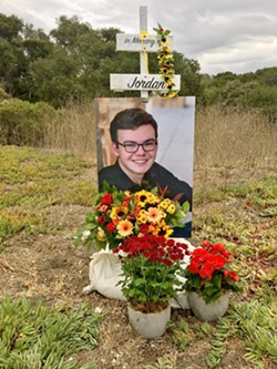 IN MEMORY The Grants continue to advocate for the closure of the El Campo Road intersection on Highway 101 where their son Jordan Grant was killed in October 2018. - PHOTO COURTESY OF JORDAN GRANT'S FACEBOOK MEMORIAL PAGE