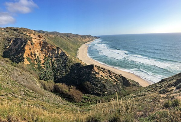 OVER THE DUNES Once down the long expanse of beach at Rancho Guadalupe Dunes Preserve and over the Mussel Rock Dunes, hikers will witness expansive views of the ocean and nearly untouched wilderness. - PHOTO BY KASEY BUBNASH