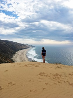 IT TAKES MUSCLE TO GET TO MUSSEL If you have the guts and perseverance to trudge through sand, scale walls, and face the wind for a few hours, your reward will be reaching Mussel Point (pictured), which serves up gorgeous views and flat land perfect for a picnic. - PHOTO BY ELI NORDSTROM