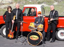 PLAYNG FOR THE ROCK! Super fun '60s-style rock act Unfinished Business will perform their British Invasion show in the Morro Bay Vets Building on April 6, during the sixth annual Community Radio Fundraiser for 97.3 and 107.9 FM The Rock. - PHOTO COURTESY OF UNFINISHED BUSINESS