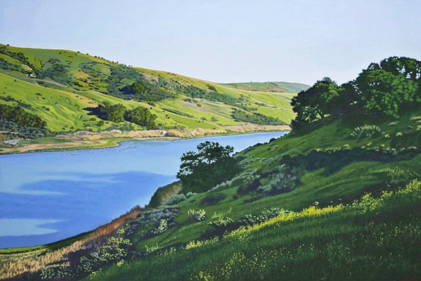 LOCAL VIEWS Whale Rock Reservoir, painted circa 2009, which shows a view from above Cayucos, is the first local scene that artist Bruce Everett painted after relocating to the Central Coast from Southern California years ago. - IMAGES COURTESY OF BRUCE EVERETT