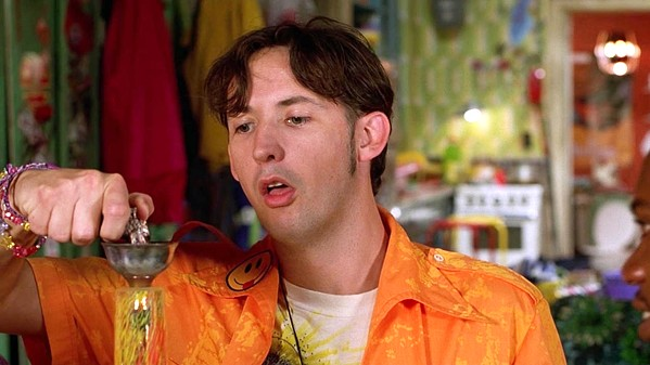 STONER Kenny (Harland Williams) accidentally kills a cop's diabetic horse by feeding it junk food purchased on a munchies run, sending him to jail, but his three besties hatch a plan to get him out on $1 million bond, in Half Baked, screening for free at the Fremont Theater, on April 20. - PHOTO COURTESY OF UNIVERSAL PICTURES