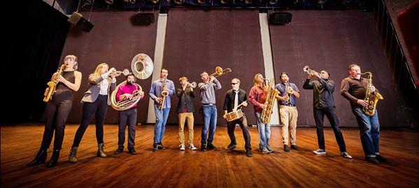 BIG BAND Brass Mash headlines a four-band fundraising show for RISE, on April 27, at the SLO Brew Rock Event Center. - PHOTO COURTESY OF BRASS MASH