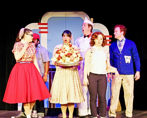 MMMBOP After Treasure Island is over, stick around for the Melodrama's fun-filled Soda Shop Jukebox Vaudeville Review, starring Alejandro Guiterrez, Ben Abbott, Bailey Leyvas, Sydni Abenido, Eleise Moore, and Mike Fiore. - PHOTOS COURTESY OF THE GREAT AMERICAN MELODRAMA