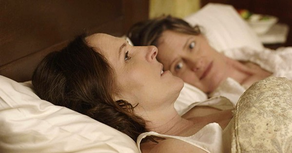 HOPE IS THE THING WITH FEATHERS Molly Shannon (foreground) stars as poet Emily Dickenson in Wild Nights with Emily, which explores her irreverent side and lifelong lesbian relationship with her sister-in-law, Susan Dickinson (Susan Ziegler). - PHOTO COURTESY OF P2 FILMS