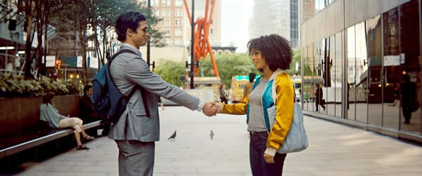 MEET CUTE Pragmatic teenager Natasha Kingsley (Yara Shahidi, right) finds love with hardworking student Daniel Bae (Charles Melton) amid her family's difficulties, in The Sun Is Also A Star. - PHOTO COURTESY OF METRO-GOLDWYN-MAYER