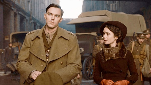 BECOMING J.R.R. Nicholas Hoult stars as the fantasy author J.R.R. Tolkien in Tolkien, a biographical drama about his formative years, and his relationship with Edith Bratt (Lily Collins). - PHOTO COURTESY OF FOX SEARCHLIGHT PICTURES