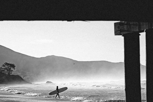 SOLITUDE Much of surf photographer Colin Nearman's work is shot locally in spots including Cayucos (pictured) and Big Sur. - PHOTOS COURTESY OF COLIN NEARMAN