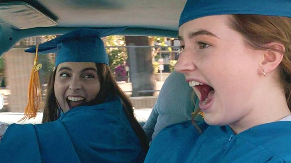 PARTY TIME Academic superstars and besties Molly (Beanie Feldstein, left) and Amy (Kaitlyn Dever) realize they wasted their high school years studying and decide to make up for it with one amazing night, in Booksmart. - PHOTO COURTESY OF ANNAPURNA PICTURES