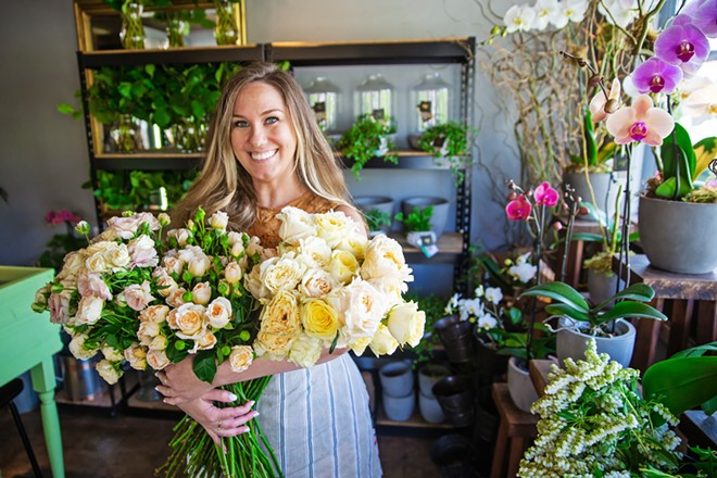 FLOWER HOUR Wilder Floral Co. brightens lives daily with their floral arrangements, and they can also brighten the best day of your life! Voted the Best Place for Wedding Flowers, Wilder can bring power to your special day and a flattering pop of color, too. - PHOTO BY JAYSON MELLOM