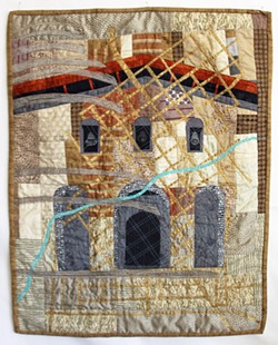 TOLOSA Artist Ellen November's fiber art piece, SLO Mission, is inspired by none other than the Mission de Tolosa in downtown. - PHOTOS COURTESY OF ELLEN NOVEMBER