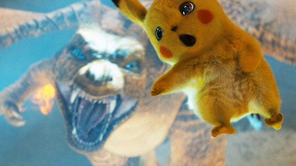 RUN FOR IT Detective Pikachu (voiced by Ryan Reynolds, foreground) has to save his fellow Pokémon, find his old partner, and escape death, in Pokémon Detective Pikachu. - PHOTO COURTESY OF LEGENDARY ENTERTAINMENT
