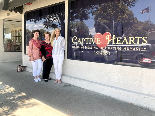 SAFE PLACE Judy Boen's (center) vision of creating a safe home to facilitate a six-month recovery program for individuals with a history of substance abuse came to life with the help of Cyd Sebring (right) and LeeAnn Smith (left). - PHOTO COURTESY OF CAPTIVE HEARTS
