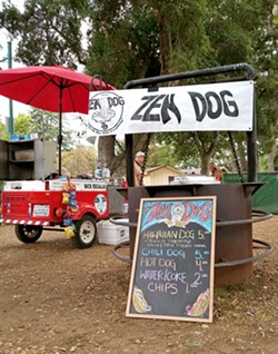 FOOD CART COMMUNITY Zen Dog is one of several mobile food cart/truck businesses in SLO County. Its founder, Nick Regalia, hopes to see that community grow and thrive in the future. - PHOTO COURTESY OF NICK REGALIA