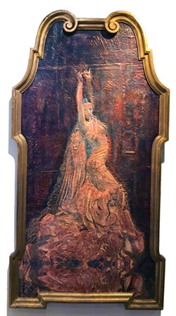 PICTURE PERFECT The Flamenco Dancer, an encaustic painting by Deprise Brescia, took shape to fit into a particular antique frame the artist already had. - PHOTOS COURTESY OF DEPRISE BRESCIA