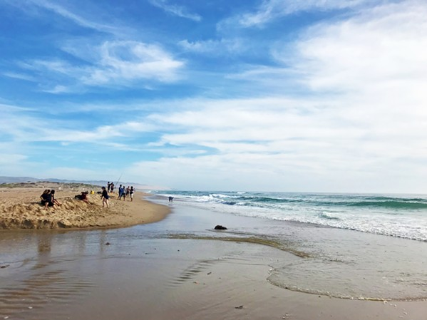SWEET REWARD A 75-degree beach is the cherry on top of this Oso Flaco Lake walk on June 9. To the south is the Guadalupe-Nipomo Dunes National Wildlife Refuge. - PHOTOS BY PETER JOHNSON