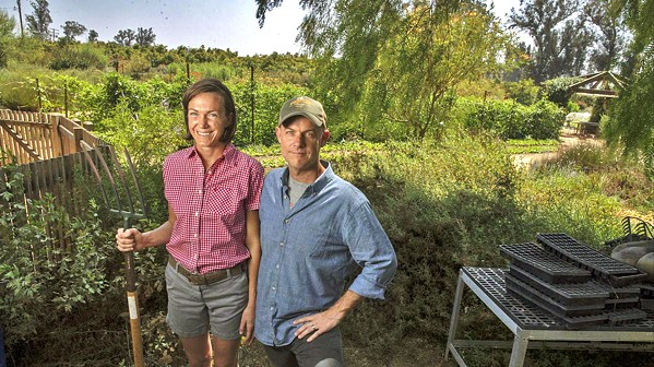 AMERICAN GOTHIC Documentarian and nascent farmer John Chester and his wife, Molly, chronicle over eight years their attempt to create a sustainable farm that works in harmony with nature. - PHOTO COURTESY OF FARMLORE FILMS